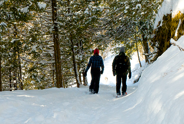 Winter activities in the Coaticook Region